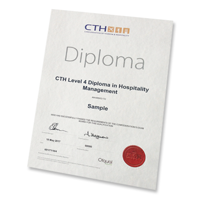 Cth Level 4 Diploma Hospitality Certificate